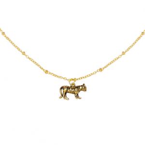 Ketting wild tiger goud