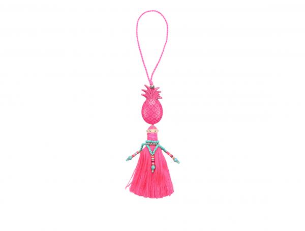 Accessoire pineapple tassel roze