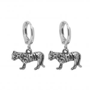Oorbellen wild tiger zilver