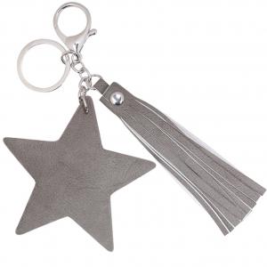 Sleutelhanger shining star grijs