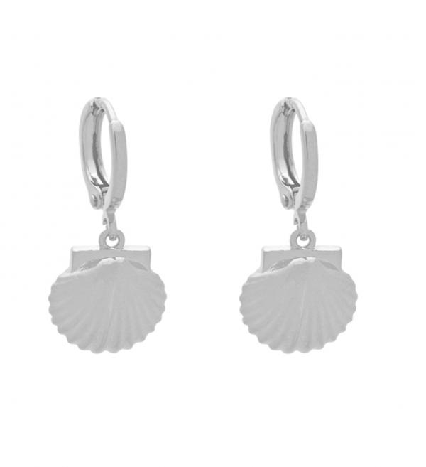 Oorbellen Seashell zilver